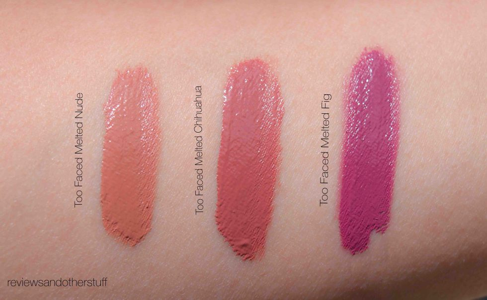 too faced melted lipstick swatch