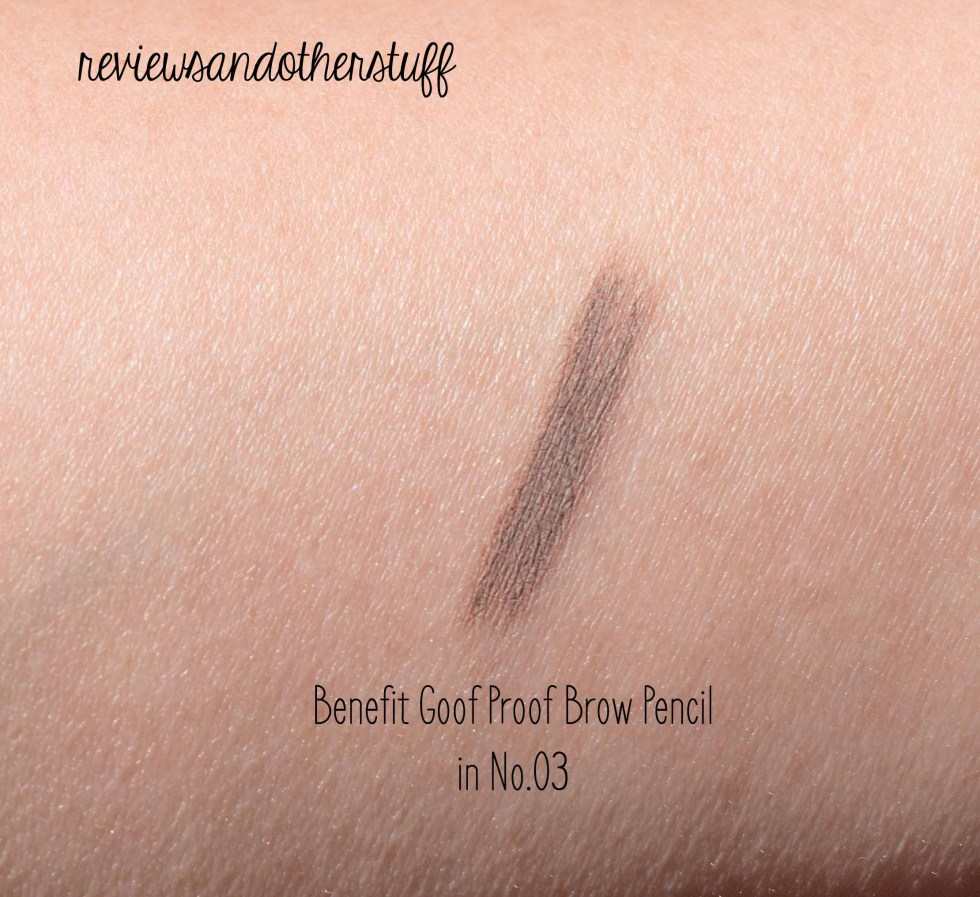 benefit goof proof brow pencil review in shade 3