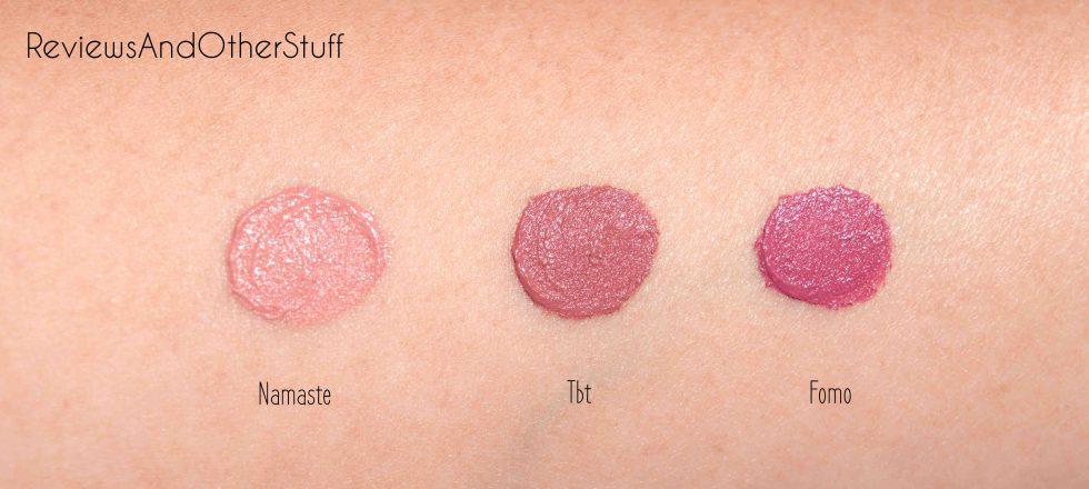 tarte creamy lip paint swatches