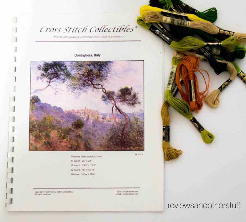 Jan Hagara Cross Stitch Patterns: 7 Years In The Making, Monet Bordighera Italy Cross Stitch
