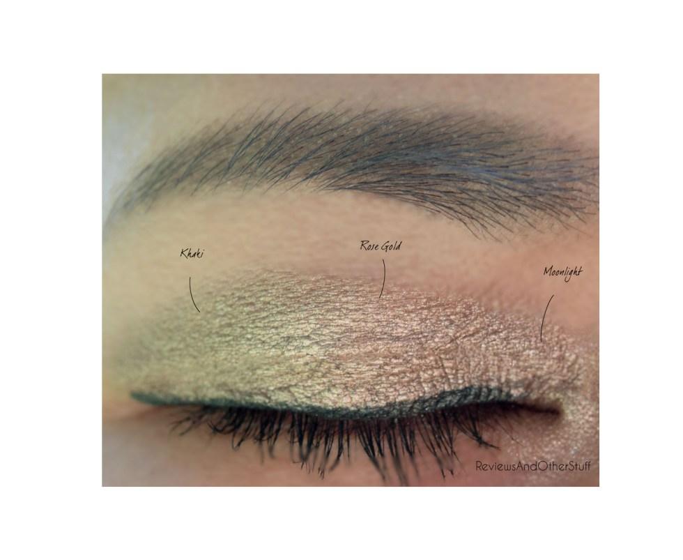 laura mercier caviar stick eye colour swatches on eyes