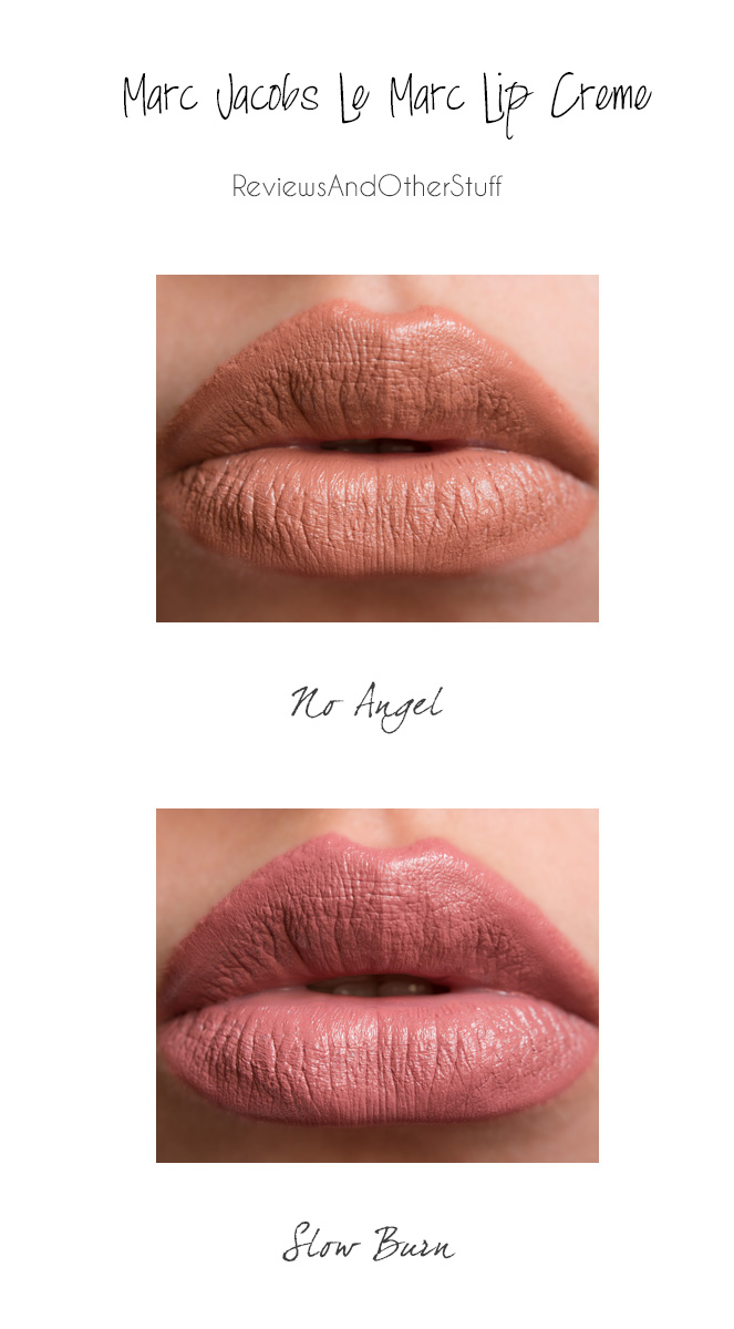 marc jacobs lip creme lipstick lip swatches