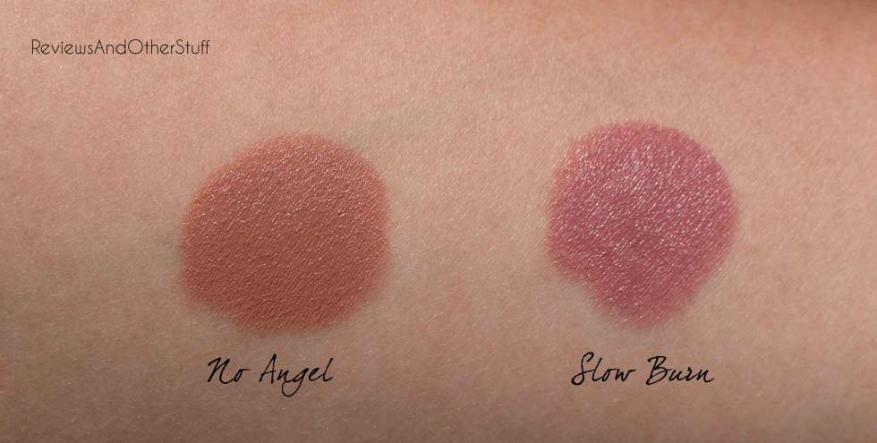 marc jacobs lip creme slow burn no angel swatch review on skin