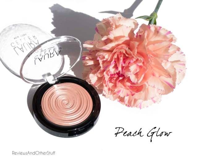 laura geller baked gelato swirl illuminator in peach glow review