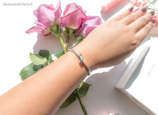 celine silver knot bracelet