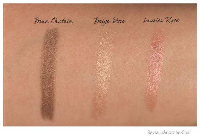 chanel stylo fresh effect eyeshadow brun chatain beige dore laurier rose