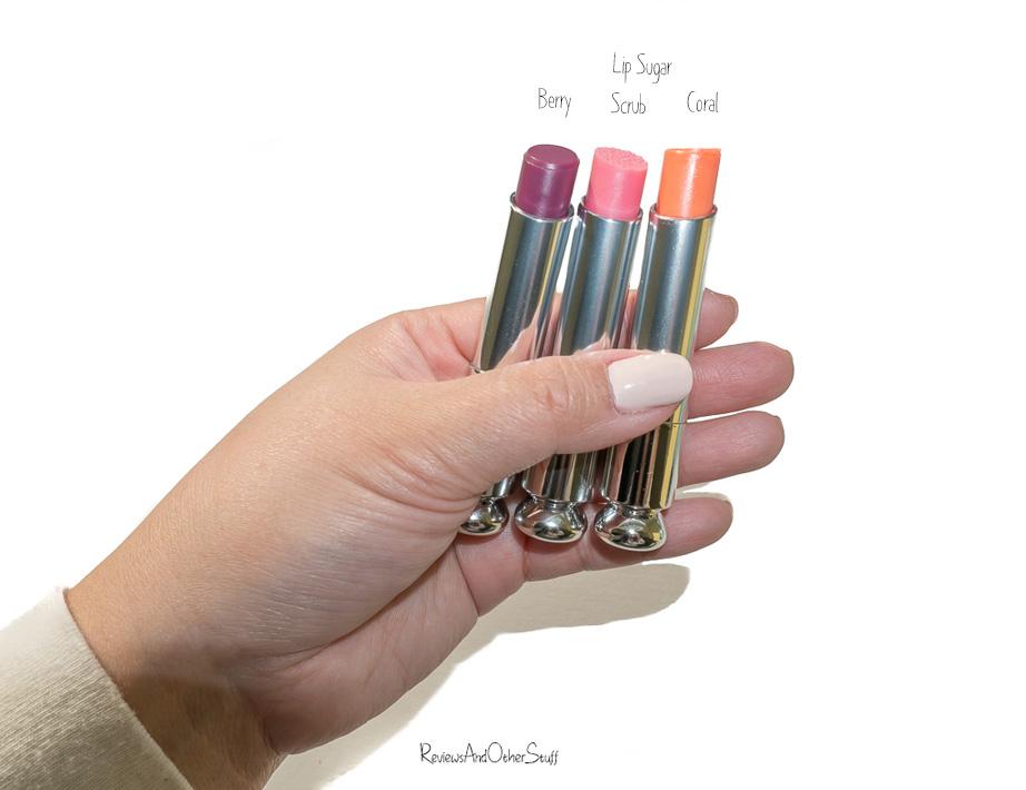 dior addict lip glow coral berry lip sugar scrub
