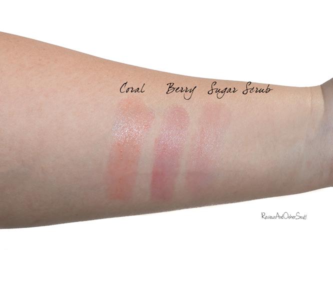 dior addict lip glow and lip sugar scrub swatch