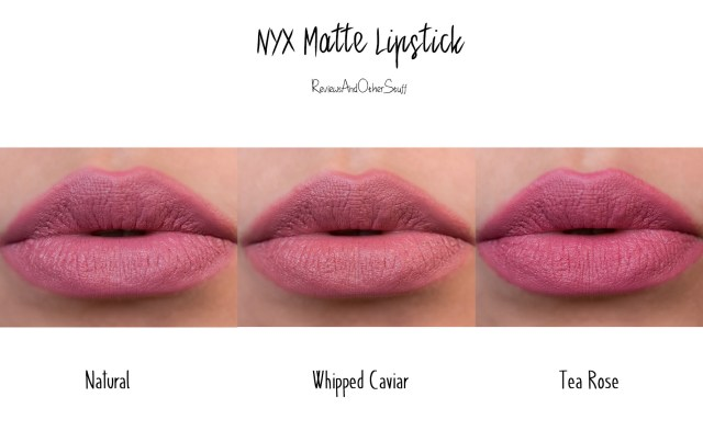 nyx matte lipstick swatch and review