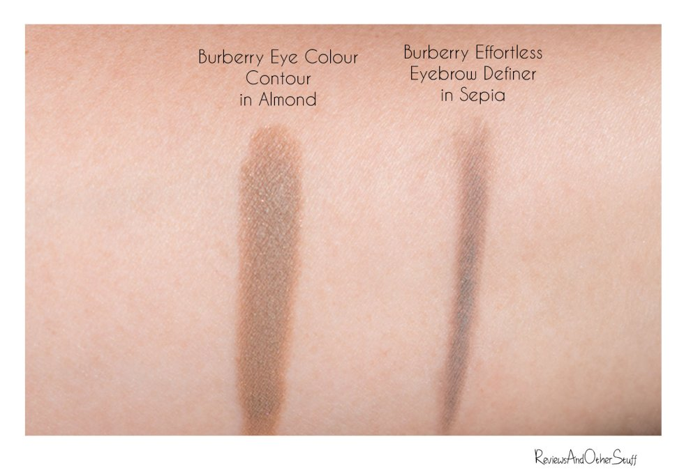 Burberry Effortless Eyebrow Definer Sepia  & Eye Colour Contour Almond Review