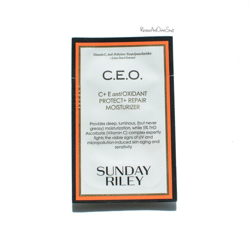 Sunday Riley C.E.O, C+E Antioxidant Protect + Repair Moisturizer review