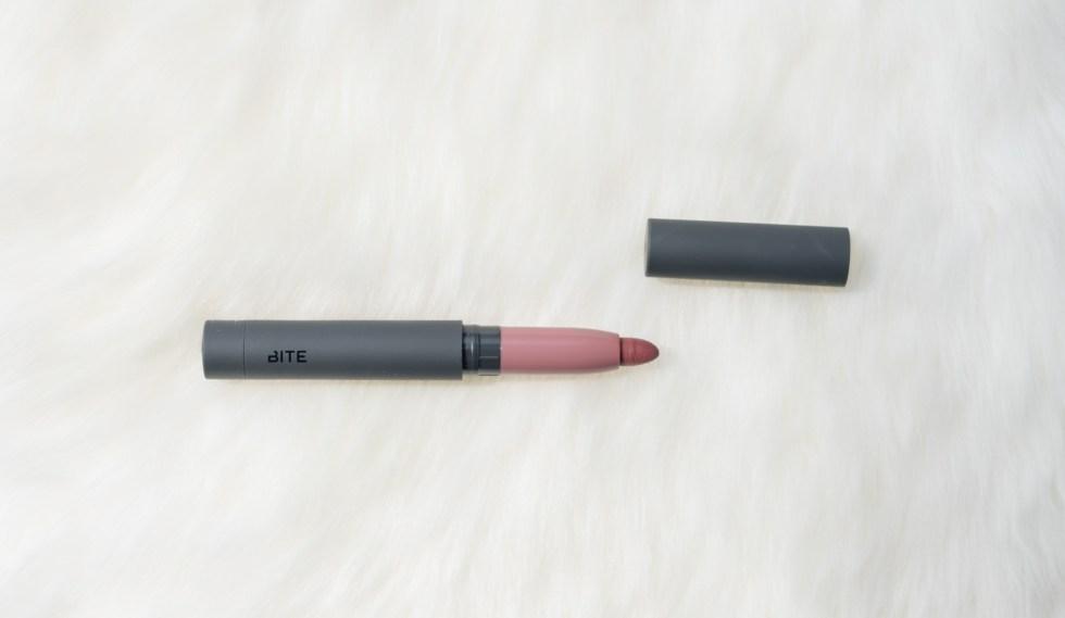 Bite Beauty Matte Crème Lip Crayon Glace Swatch