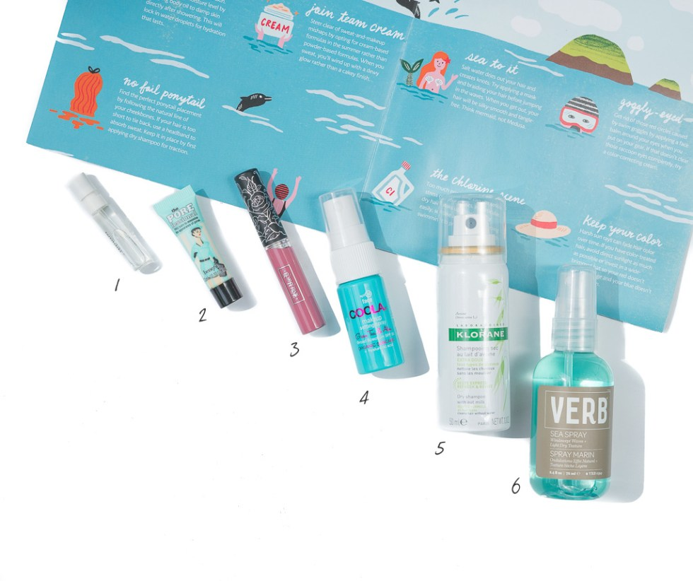 Sephora Play! June 2017 benefit professional verb sea spray bvlgari omnia crystalline