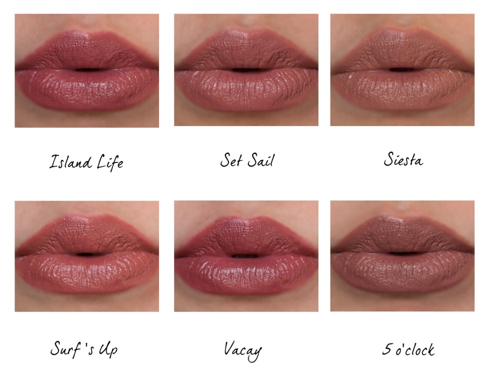 Tarte Rainforest of The Sea Color Splash Lipstick swatches