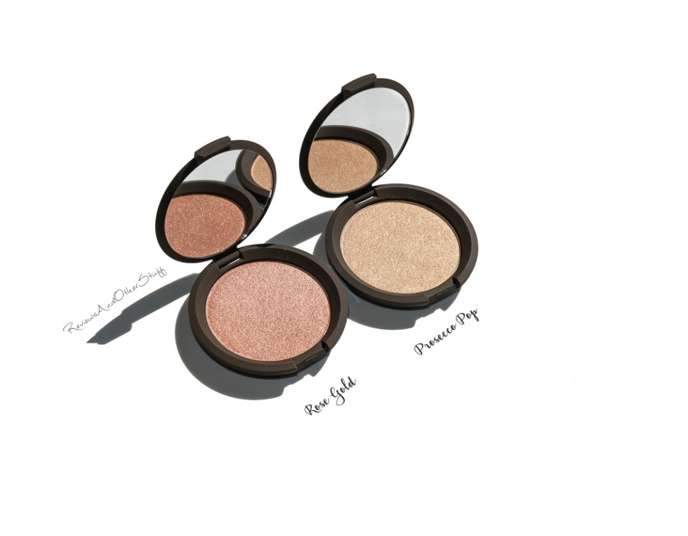 Becca Shimmering Skin Perfector Pressed Highlighter prosecco pop rose gold swatches