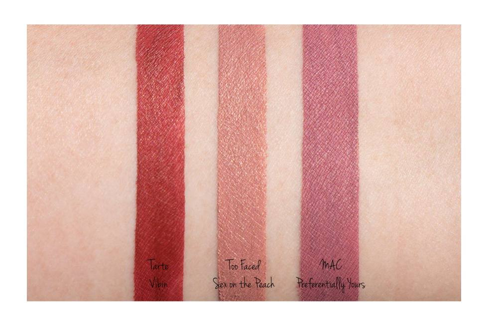 Too Faced Peach Kiss Moisture Matte Long Wear Lipstick in Sex on the Peach