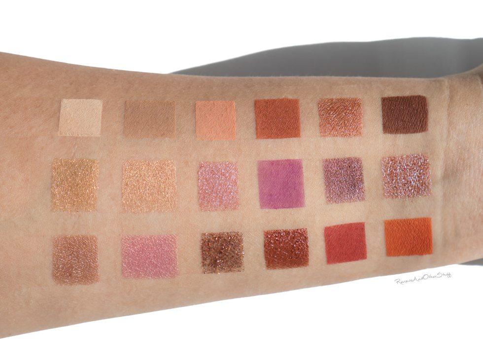 Huda Beauty Desert Dusk Eyeshadow Palette swatches