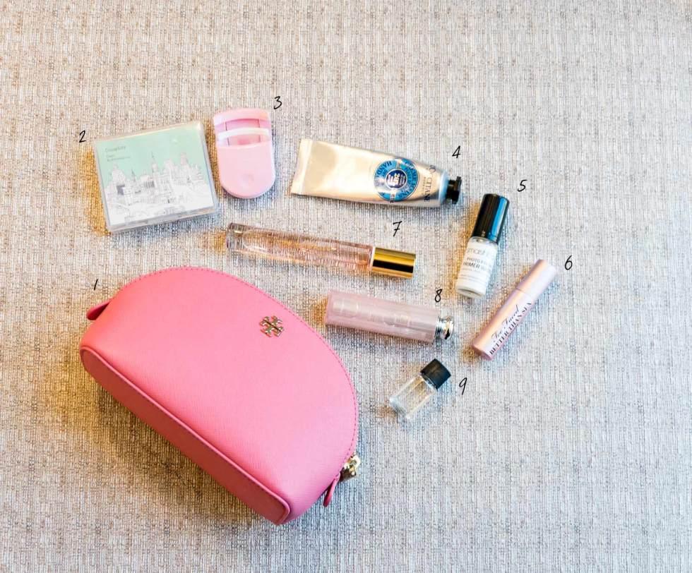 beauty essentials tory burch makeup bag