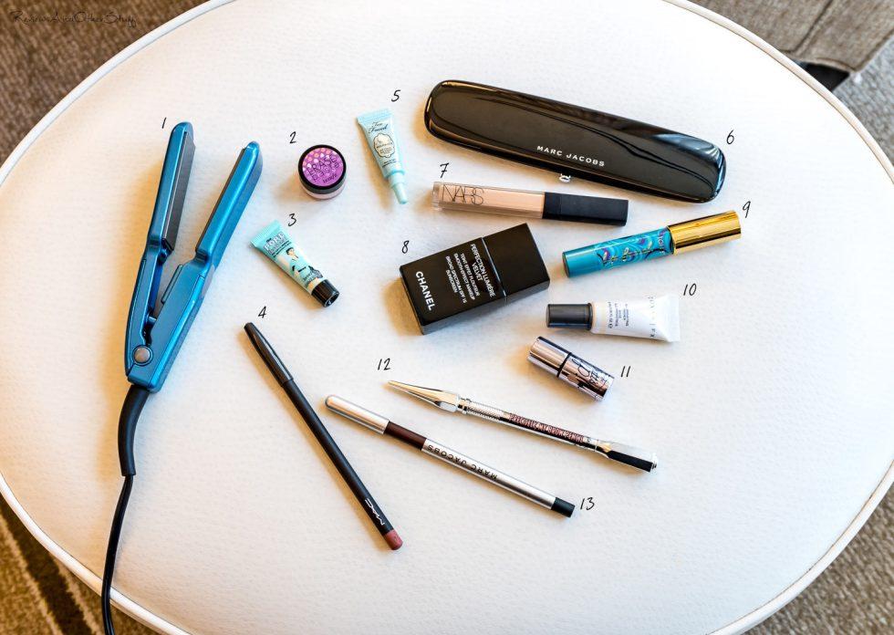 beauty essentials for short trip