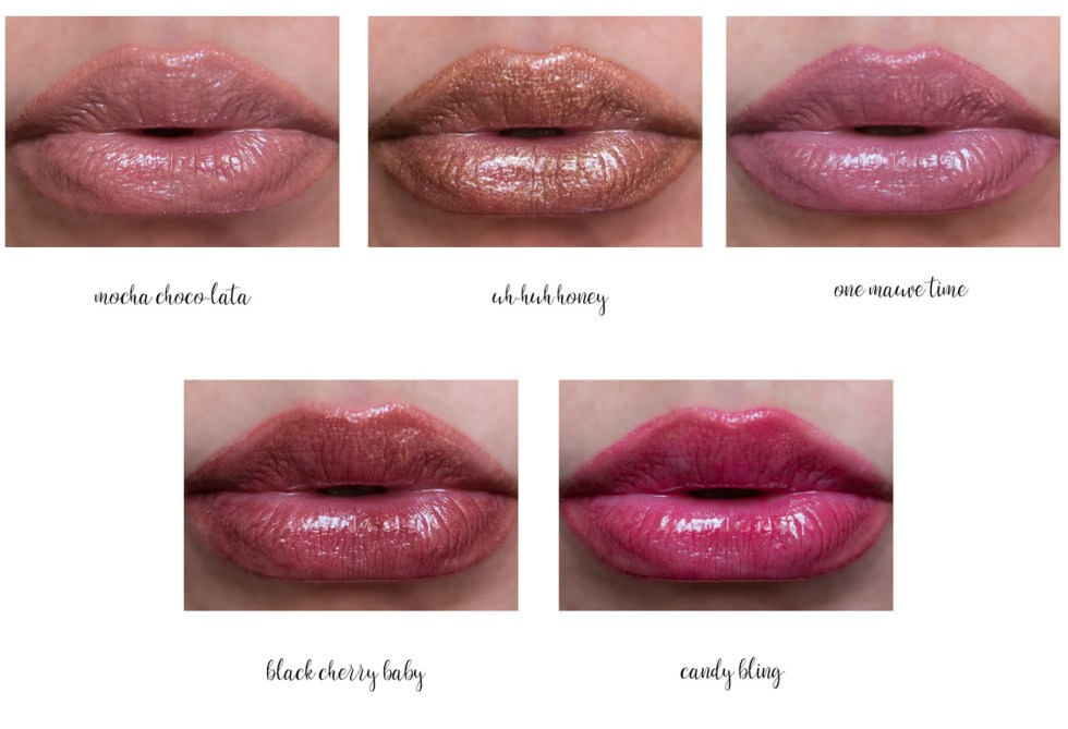 marc jacobs enamored lip gloss stick swatches