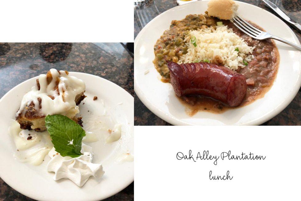 lunch at oak alley plantation