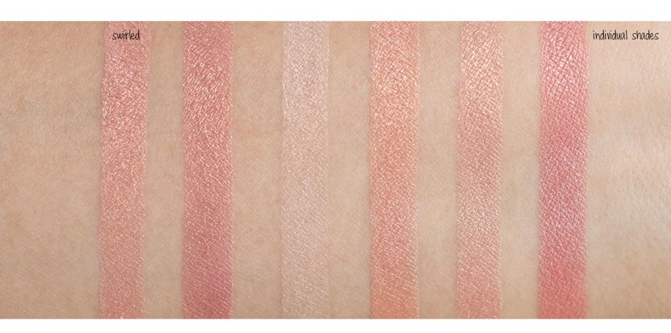 bobbi brown shimmer brick in nectar swatch