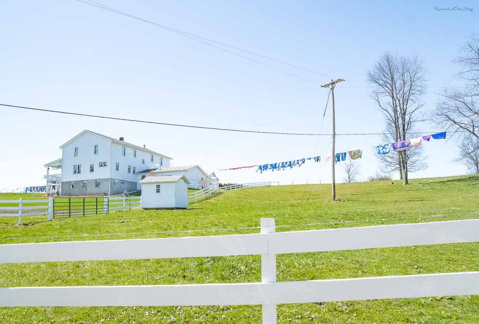 amish house with clothesline