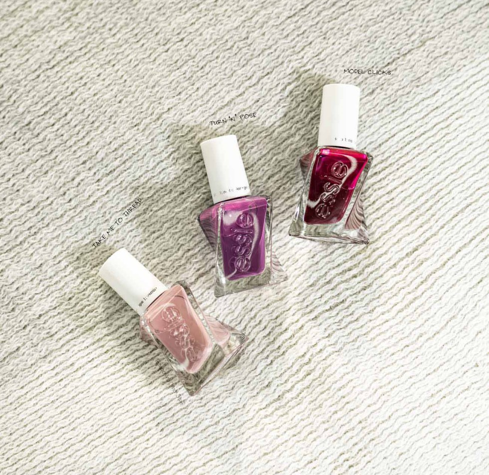 essie turn 'n' pose, essie model clicks