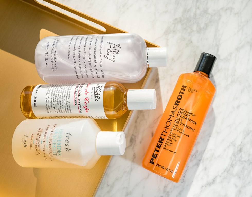 Philosophy Falling In Love Shampoo, Bath & Shower Gel,  Kiehl's Creme de Corps Smoothing Oil-To-Foam Body Cleanser