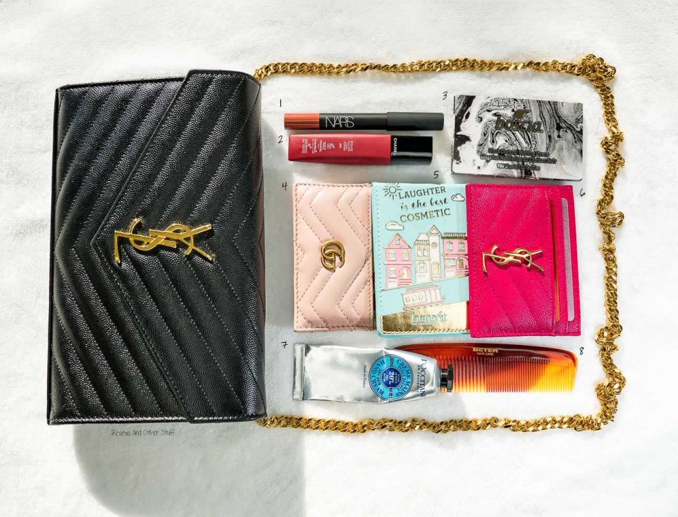saint laurent chain wallet monogram leather review