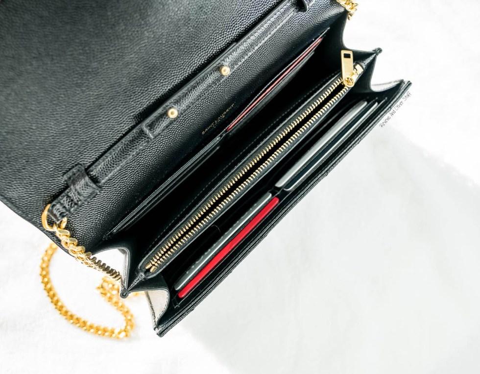 saint laurent wallet on chain bag review