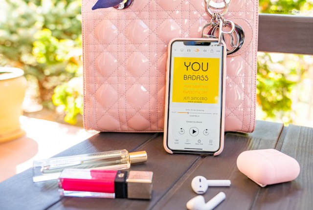 you are a badass book by jen sincero, pink lady dior bag, pink iphone x review