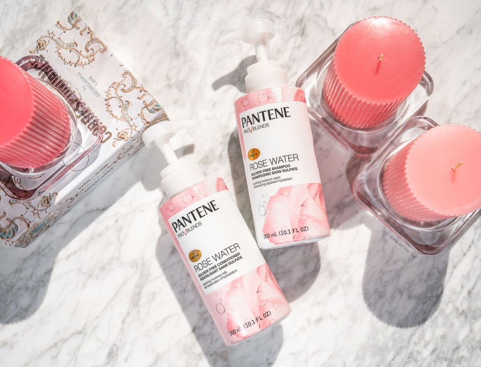 pantene pro-v blends rose water collection review