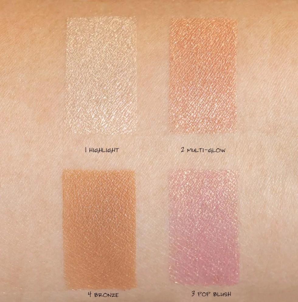 charlotte tilbury glowgasm palette swatch