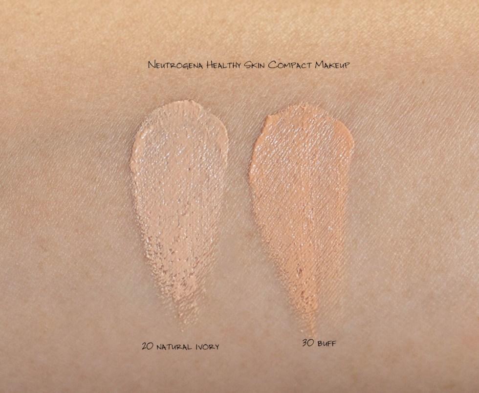 Neutrogena Healthy Skin Compact Makeup Broad Spectrum SPF 55 in 30 Buff swatch