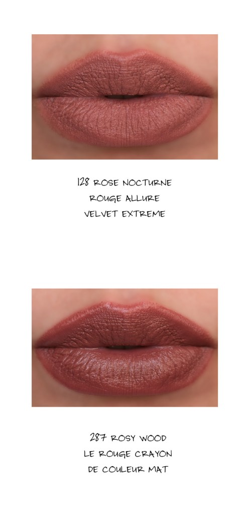 Chanel Rouge Allure Velvet Extreme in 128 Rose Nocturne swatch