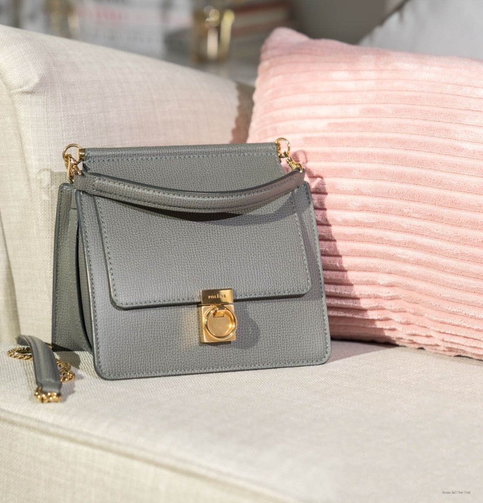 Polène Paris Number Seven Grey leather bag review