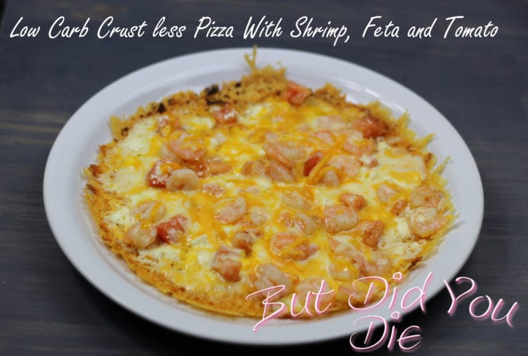 Low Carb Crust less Pizza.
