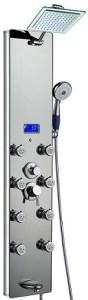 AKDY AK-787392M 52 Inch Tempered Glass Aluminum Shower Panel