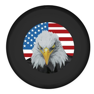 Moonet American Flag Eagle Head Spare Tire Wheel Cover