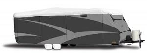 ADCO 32846 Designer Series Tan/White Tyvek Travel Trailer RV Cover