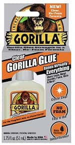 Gorilla Clear Glue, 1.75 ounce Bottle
