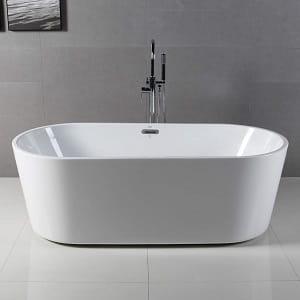 FerdY 67 Freestanding bathtub White Modern Stand Alone bathtub Soaking Bathtub