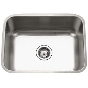 Houzer STS-1300-1 Eston Series Undermount Stainless Steel Single Bowl Kitchen Sink