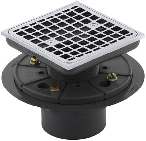 KOHLER K-9136-CP Square Design Tile-In Shower Drain