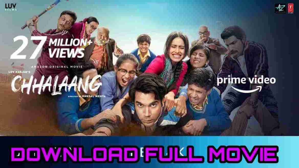 Watch online Chhalaang Full Movie in HD – Watch Chhalaang Movie FREE –  Rajkumar Rao