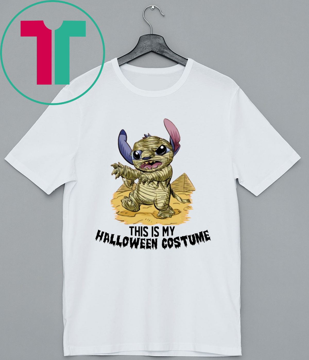 This Is My Halloween Costume Mummy Stitch Funny T Shirt