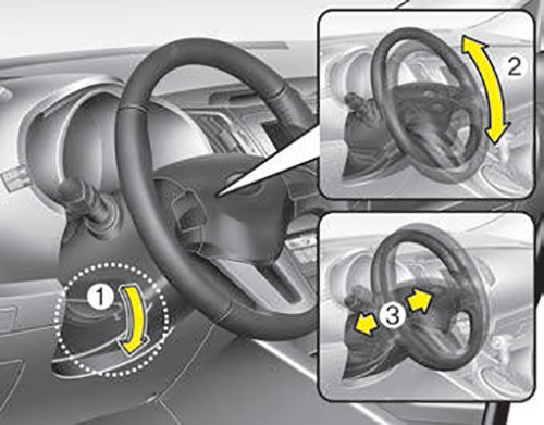 Adjust Steering Wheel