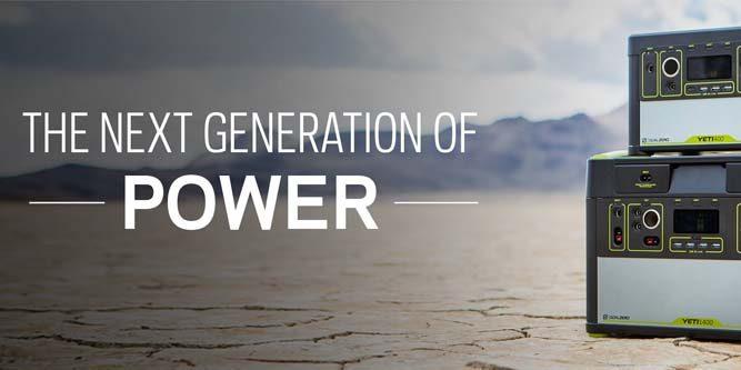 Goal Zero Lithium Solar Generators
