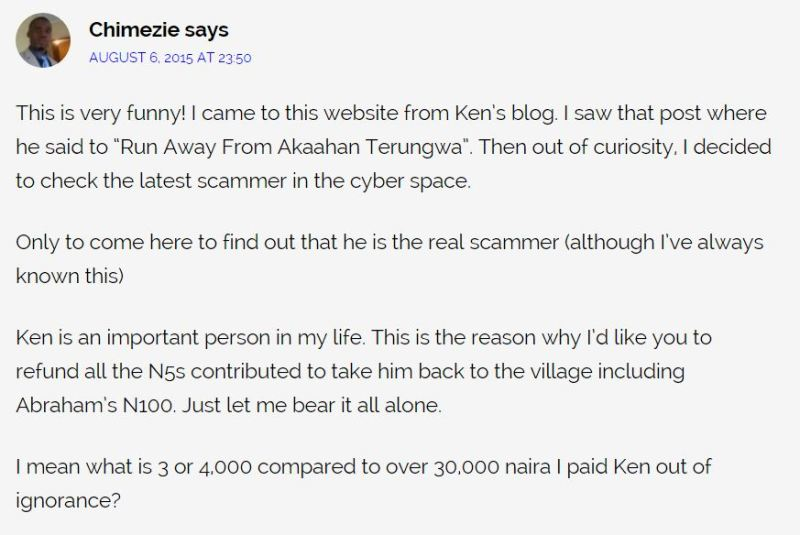 Nigerians Say Ken Ezeani Is A Scammer 6